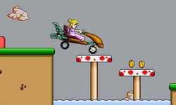 Peach Car Racing