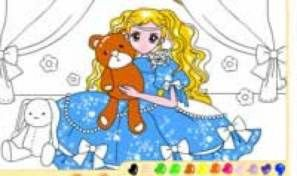 Original game title: Teddybear Girl Coloring
