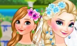 Bride Elsa and Bridesmaid Anna