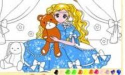 Lukisan Gadis Beruang Tedi