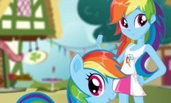 Poni VS Manusia Rainbow Dash