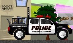 Водитель полицейского авто