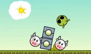 Original game title: Cows vs Aliens