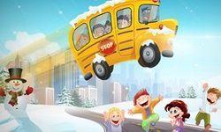 Winter Schoolbus Parkeren