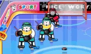 Dog Ice Hockey