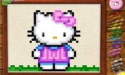 Hello Kitty Cross Stitching