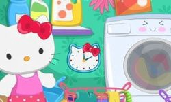 Hello Kitty Laundry Day
