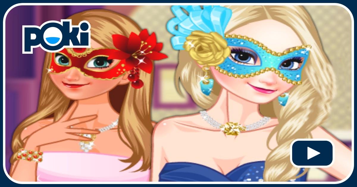 Jogo Frozen Sisters Masquerade Ball