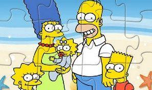 Simpsons on the Beach