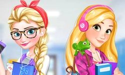Elsa and Rapunzel: College Girls