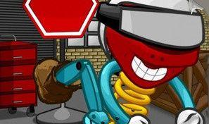Original game title: Crazy Skatebot