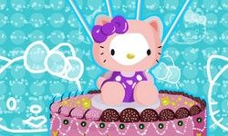 Hello Kitty Kuchen Dekoration