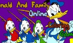 Donald and Family Coloring