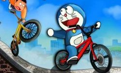 Doraemon Corsa in Bici