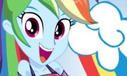 Ubieranki: Miss Loyalty Rainbow Dash