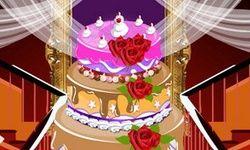 Dekorasi Kue Pernikahan Raksasa