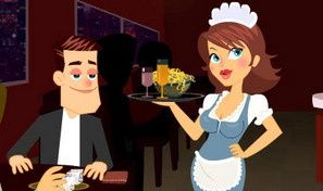 Original game title: Naughty Waitress