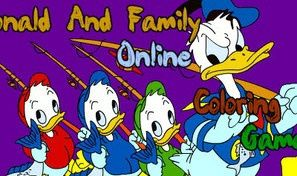 Original game title: Donald and Family Coloring