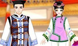 Vestir o Príncipe e Princesa Chineses