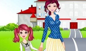 Original game title: Go To School With Mother