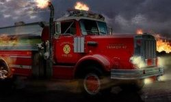 Schweres Feuerwehrauto