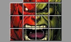 Skládačka: Červený vs. Zelený Hulk