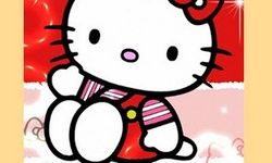 Red Hello Kitty Sliding