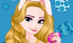 Vestir a Elsa de Frozen para Pascua