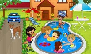 Kids Swimming Pool Decor