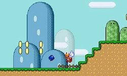 Sonic in Mario World 3