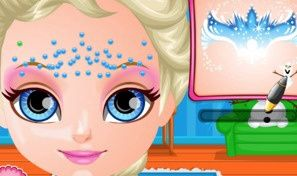 Baby Frozen Face Painting