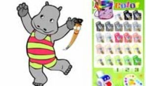 Original game title: Happy Hippo Coloring