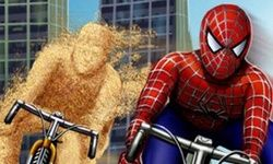 Corsa in Bici con Spiderman