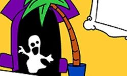 Haunted House Coloring