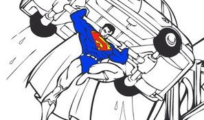 Superman Cartoon Coloring