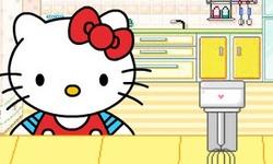 Hello Kitty Making Cake