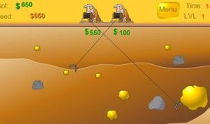 Original game title: Gold Miner 2-Player