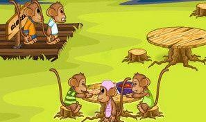 Original game title: Monkey Dinner