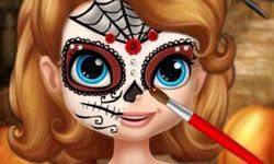 Sofia Halloween Face Art