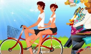 Bikecycling Couple
