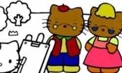 Hello Kitty Colouring