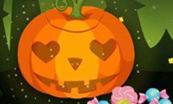 Halloween Cute Pumpkin Head