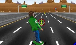 Original game title: Ben 10 Highway Skateboarding