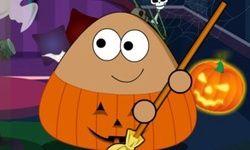 Pou Halloween Hausputz