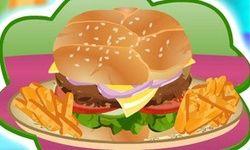 Memasak Burger Besar