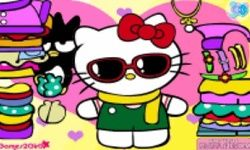 Vestindo Hello Kitty