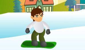 Ben 10 Snowboard Jumping