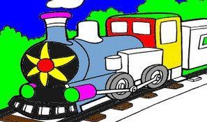 Original game title: Train Coloring Book
