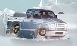 Pickup Parking: Winter Night