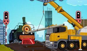 Original game title: Railroad Crane Parking